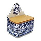 Madeira House Coimbra Ceramics Hand-Painted Decorative Salt Holder XVII Cent Recreation #137-3