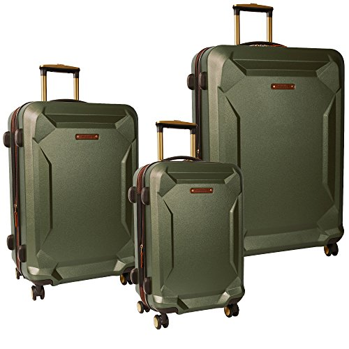(Timberland Fort Stark 3 Piece Hardside Luggage Set, Green)
