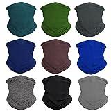 Eytan Men's Workout Headband - Sports Face Shield Neck Gaiter Scarf Wrap Face Mask for Riding, Hiking - Seamless Tube Bandana (Solid Dark)