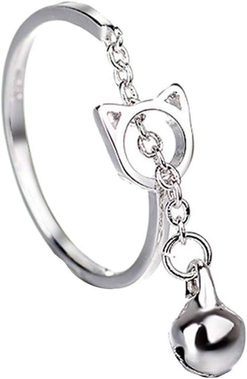 Pengyu - Colgante de gato hueco con cascabel, cadena abierta ...