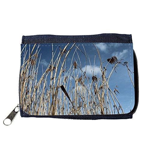 Portemonnaie Geldbörse Brieftasche // M00310886 Red Sky Teichpflanzen Natur See // Purse Wallet