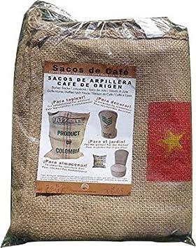 60 cm x 90 cm SABOREATE Y CAFE THE FLAVOUR SHOP Tela de Saco de Caf/é de Origen Caf/é Mundi Reutilizado para Tapizar de Yute Arpillera 100/% Natural