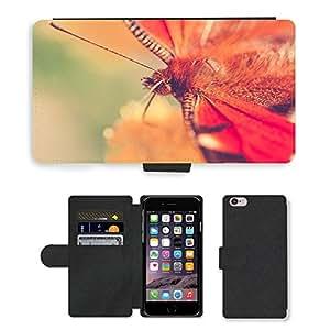 "PU LEATHER case coque housse smartphone Flip bag Cover protection // M00130331 Mariposa Cerrar Insecto Naturaleza // Apple iPhone 6 PLUS 5.5"""