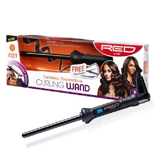 RED Kiss Curling Wand, 0.5 Inch