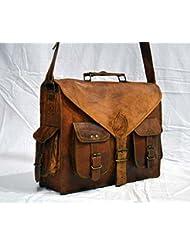 Leather Messenger Bag Laptop Bag Briefcase Satchel Bag Rustic Vintage Bag 16 Inch