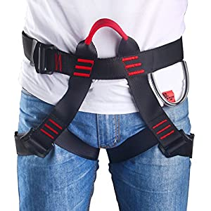Climbing Harness, Oumers Safe Seat Belts For Mountaineering Outward Band Fire Rescue Working on the Higher Level Caving Rock Climbing Rappelling Equip, Women Man Child Half Body Guide Harness from Oumers