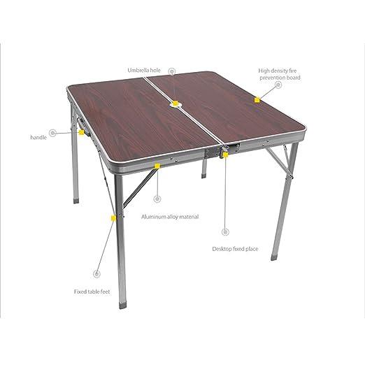 MSNDIAN Aluminio, Escritorio, Exterior, Plegable, Mesa, Simple ...