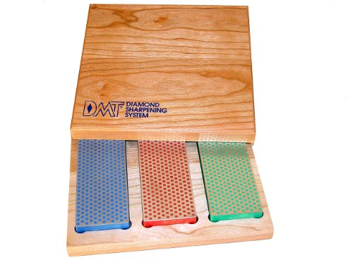 DMT W6EFC Three 6-Inch Diamond Whetstone Models in Hard Wood Box Dmt Diamond Sharpening Stones