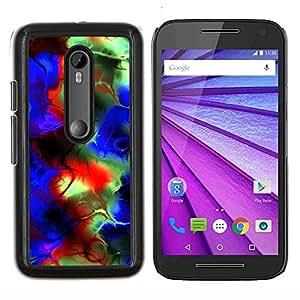 """Be-Star Único Patrón Plástico Duro Fundas Cover Cubre Hard Case Cover Para Motorola Moto G (3rd gen) / G3 ( Colores psicodélicos"""" )"""