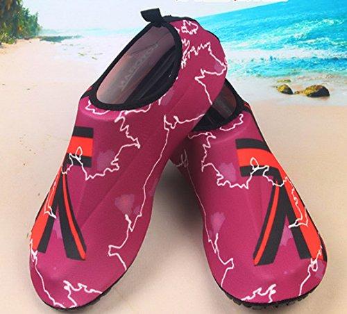 Panegy Mens Delle Donne Mesh Traspirante Outdoor Soft-con La Suola Antiscivolo Piede Wading Slip-on Acqua Pelle Scarpe Red Union Jack