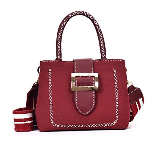 handle Ladies Red Top Retro Bags Bag Strap For Wide Bag Wild Bags Wine Crossbody Shoulder Shoulder Girls ZZ8zqxr