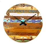 Rustic & Antique Wall Clock of Reclaimed Wood Review