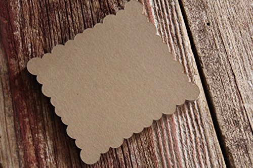 Scallop Banner (Scallop Paper Tags, Rectangle, Flat Cards, Banner)