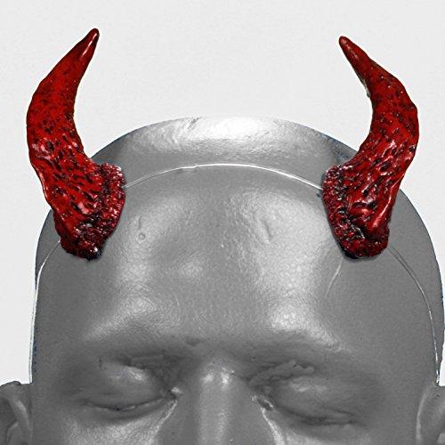 Costume Pan Satyr (Satyr v1 Red & Black Devil Horns w/ adjustable, self locking invisible)