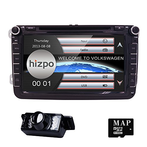 In Dash HD 8 Inch Double 2 Din Car Stereo GPS Navi DVD Player for VW Golf Polo Passat Tiguan Jetta EOS+US Map+Camera Capacitive Screen