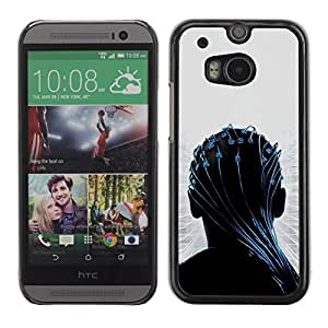 LECELL -- Funda protectora / Cubierta / Piel For HTC One M8 -- Transendece --