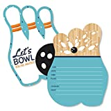 Strike Up The Fun - Bowling - Shaped Fill-in Invitations - Birthday Party or Baby Shower Invitation Cards with Envelopes - Set of 12