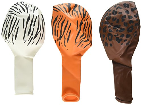 Amscan African Safari Assorted Animal Prints Colorful Balloons Latex 12