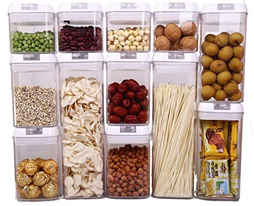 12 Piece Easy Lock Airtight Clear Plastic Food Storage Container Set - BPA Free