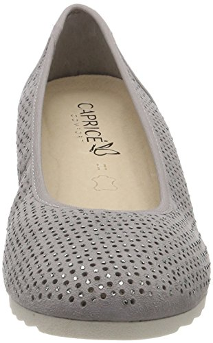 Caprice Women's 22501 Closed-Toe Pumps Grey (Lt Grey Suede 201) limited edition online Z3rDt