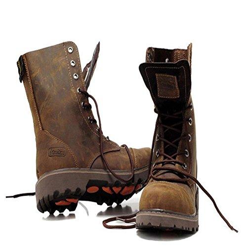 scarpe 44 in gli da invernali in per jeans neve cotone peluche Scarponi brown 42 uomo stivali maschili moto da aiutare RH6w6qB