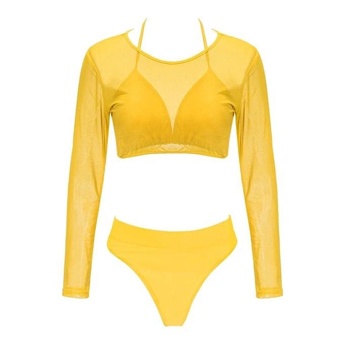 PAOLIAN Trajes de baño de Dos Pieza Bikini Sexy Mujer Verano 2018 Ropa de Bañador Playa señora Ropa de baño Conjuntos de Bikini + Cintura Alta Braguita + ...