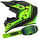 509 Black Lime Helmet Goggle Combo - MD