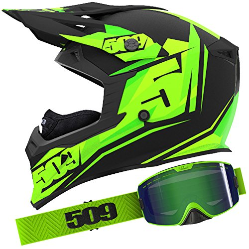 509 Black Lime Helmet Goggle Combo - XL by 509