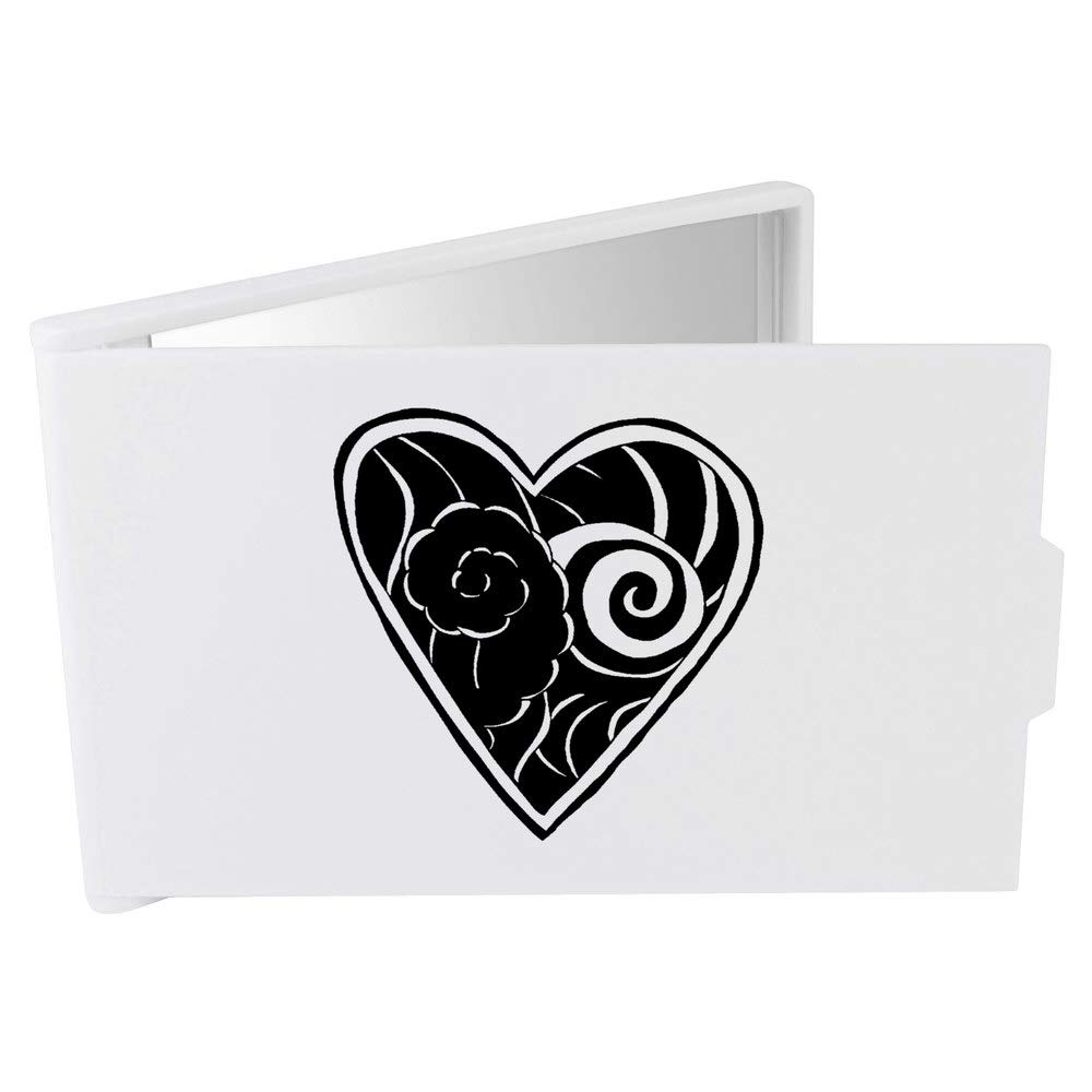 Azeeda Corazón del Tatuaje Espejo Compacto / de Bolsillo ...