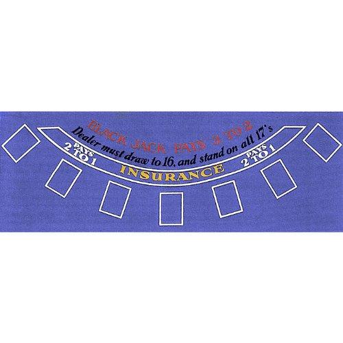 Brybelly Poker Blue Felt Blackjack Layout 36-Inch x 72-Inch GFEL-004
