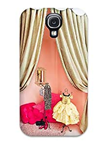 Shock-dirt Proof Girl8217s Room Dressing Area Or Play Stage With Pink Walls And Gold Curtains Case Cover For Galaxy S4