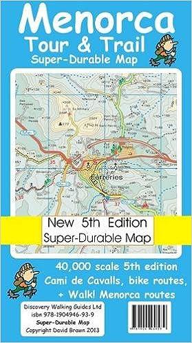 Menorca Tour & Trail Super-durable Map 5th Edition: Amazon ...