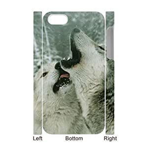 3D Bumper Plastic Case Of Gray Wolf customized case For Iphone 4/4s wangjiang maoyi