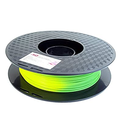 AIO Robotics AIOTEMPGREENTOYELLOW PLA 3D Printer Filament, Color Change by Temperature, Dimensional Accuracy +/- 0.02 mm, 0.5 kg Spool, 1.75 mm, Yellow/Green