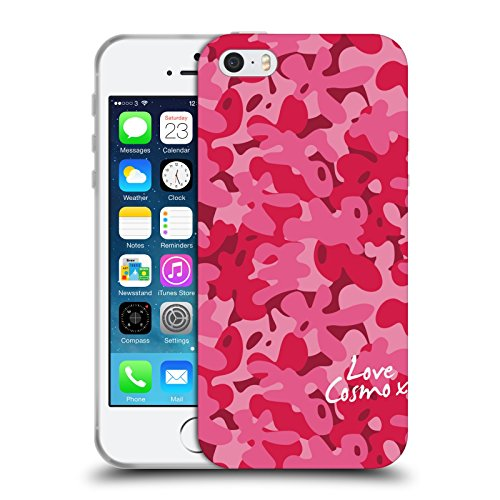 Official Cosmopolitan Rosy Pink Camo Soft Gel Case for Apple iPhone 5 / 5s / SE
