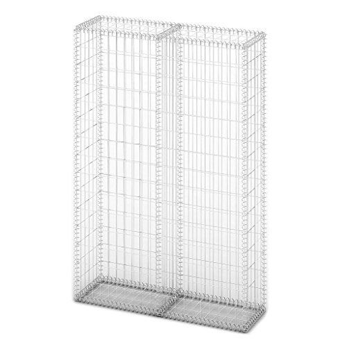 Used, Festnight Gabion Basket Wall with Lids Galvanized Wire for sale  Delivered anywhere in USA