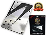 Credit Card Wallet Knife Holtzman's Great Mini Sized Utility Folding Pocket knife & Survival Tool, Razor Sharp, Durable, Stainless Steel + Our Survival eBook & camping video series You'll Love It!!