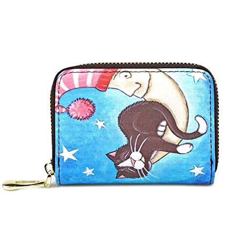 Coin Purse Wallet for Women Business Card Case Holder Zipper Lovely Mini Wallet -