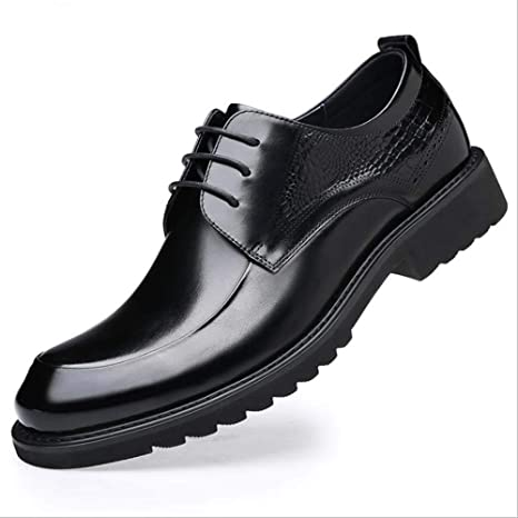 SHIZJSSR Zapatos de Cuero para Hombres, Cara Brillante, Llanura ...