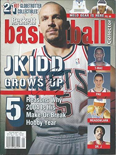 Gfa New Jersey Nets Jason Kidd Autographed Signed Memorabilia Beckett Magazine Coa