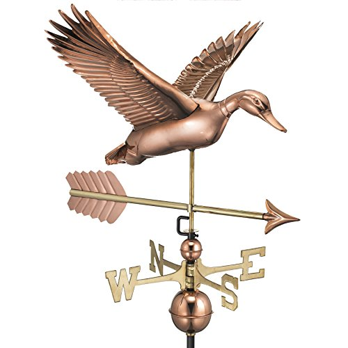 Good Directions Flying Duck with Arrow Weathervane - Pure Copper -