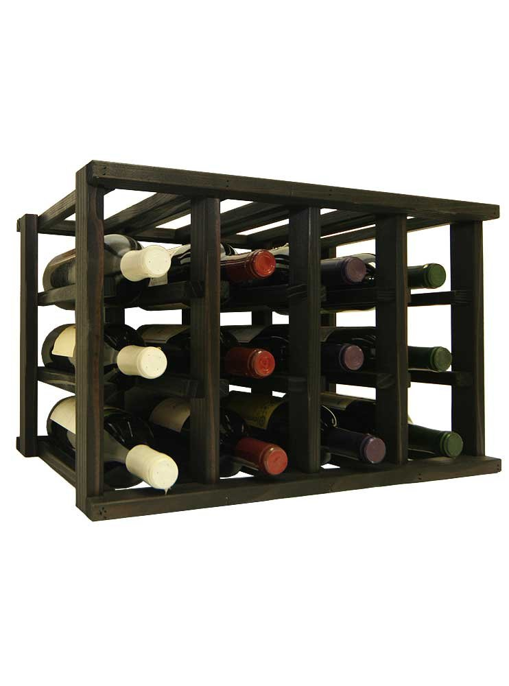 Mini Stack Individual Wine Rack for 12 Wine Bottles - Fully Assembled - Classic Mahogany Stain Wine Cellar Innovations