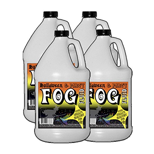 4 Gallons - Halloween Party & DJ Fog Juice for Water Based Fog Machines - American Made - Perfect Fog Fluid for Small 400 Watt to Higher Wattage 1500 Watt Foggers...]()