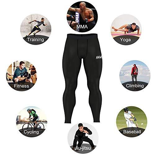 شلوار مردانه فشرده سازی شلوار مردانه هاوک تمرین تمرین در حال اجرا Muay Thai  Jiu Jitsu MMA BJJ شلوار جوراب شلواری مردانه