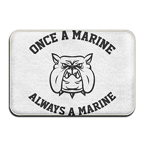 WORLDWOOD Always A Marine Welcome Door Mat Entrance Mat Floor Mat Rug Indoor/Outdoor/Front Door/Bathroom/Kitchen Mats Rubber Super Absorbent Non Slip 15.7x23.6 inch/60x40cm]()