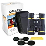 Kids Binoculars 10x Ultimate with Case: Shockproof, Durable Strong 10x Magnification, Large Viewing Area, Easy Focus,Vibrant Clarity for Hiking, Camping, Sports, Bird Watching, Travel Review