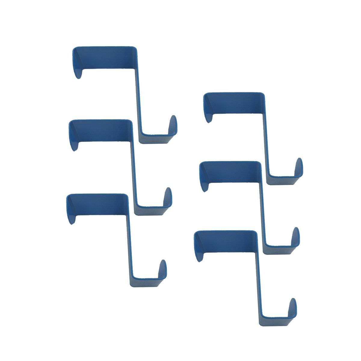 Doitb 6pcs Over Door Hanger Stainless Steel Hanging Hooks for Bathroom Bedroom Office Cabinet Draw Clothes Kitchenware Pots Utensils anging Hooks Hangers for Bathroom Bedroom Office and Kitchen Blue
