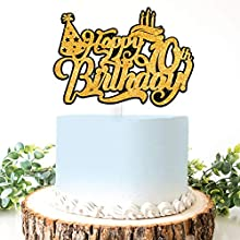 AERZETIX Birthday Decoration Happy 10th Birthday Cake Topper Birthday Cap Sign Cheers to Ten Years Old Bday Party Decorations Present Supplies