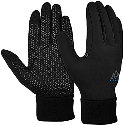 AlpxGear Touchscreen Winter Gloves for Men and Women Comes with Snow Fleece Hat
