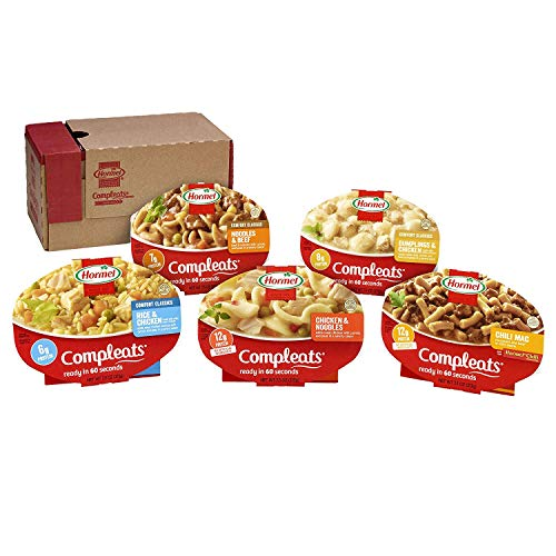 Hormel Compleats - Portion Control Variety Pack - Microwave Meals - No Refrigeration Needed